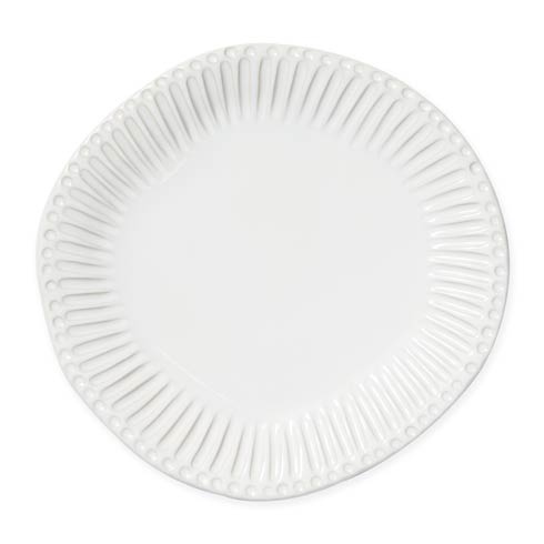 $46.00 White Stripe Dinner Plate