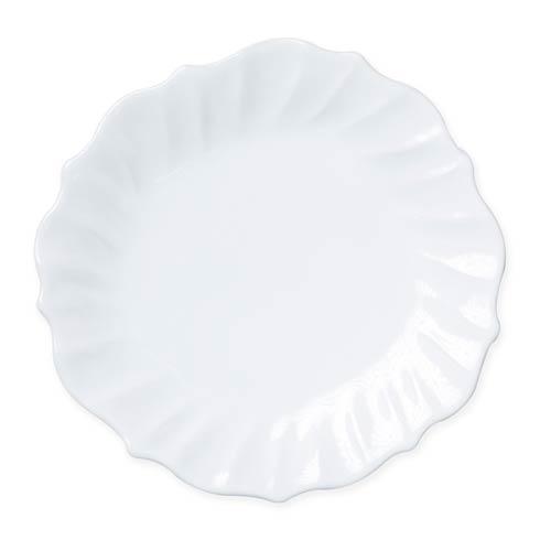 $46.00 White Ruffle Dinner Plate