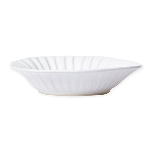 $46.00 White Stripe Pasta Bowl