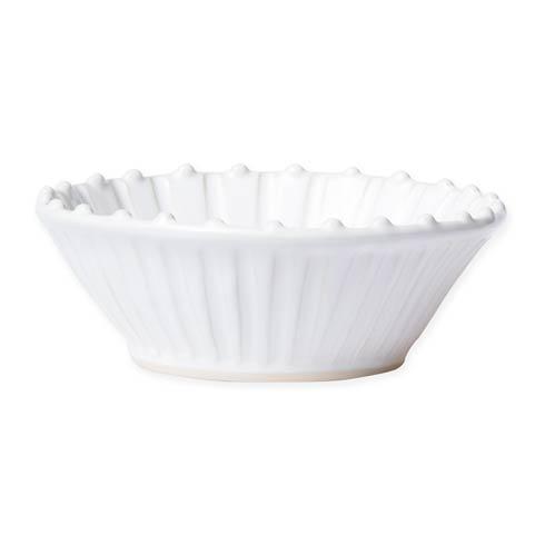 $44.00 White Stripe Cereal Bowl