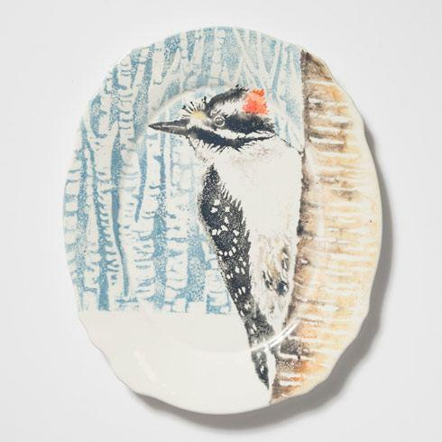 $168.00 Woodpecker Oval Platter