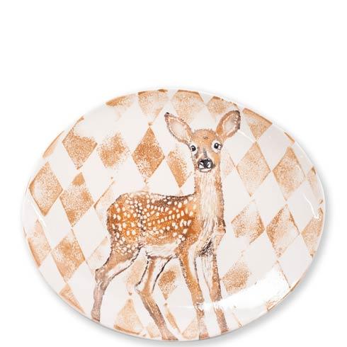 $178.00 Doe Oval Platter