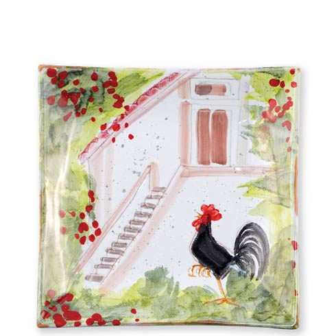 $130.00 Rooster Square Wall Plate
