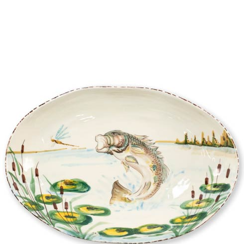 $184.00 Bass Oval Bowl