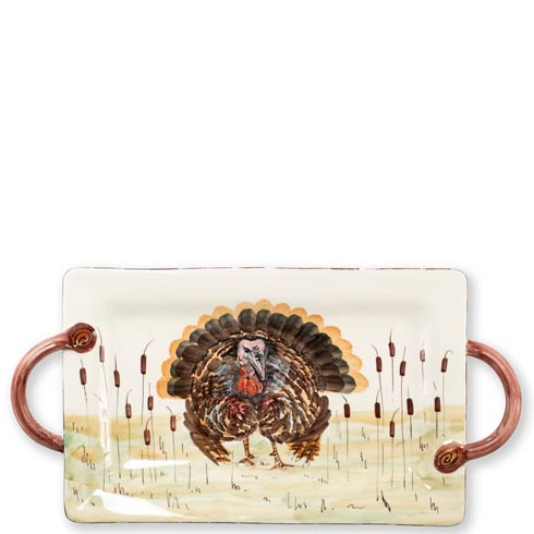 $199.00 Turkey Handled Rectangular Platter