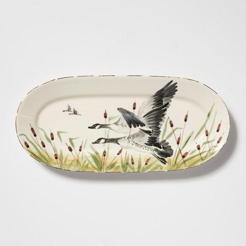 $118.00 Geese Small Oval Platter