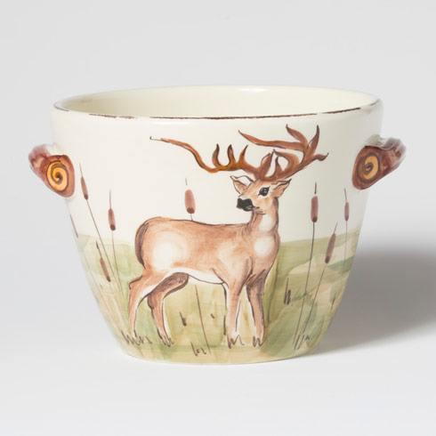 $138.00 Deer Handled Deep Serving Bowl