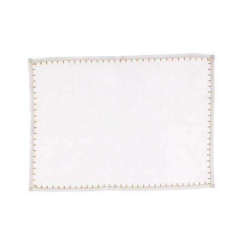 $22.00 White w/ Gold Placemat