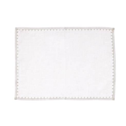 $22.00 White w/ Platinum Placemat