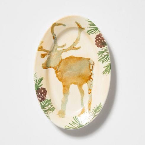 $54.00 Moose Small Oval Tray