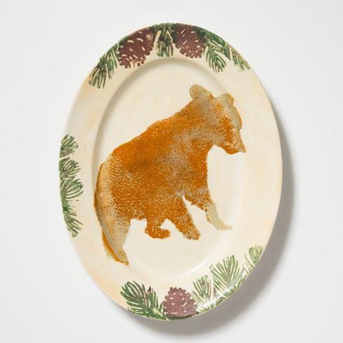 $156.00 Bear Medium Oval Platter