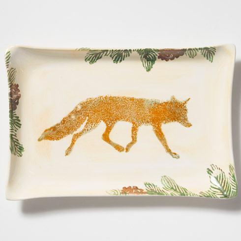 $125.00 Fox Rectangular Platter