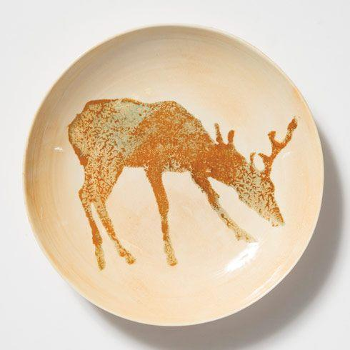 $99.00 Deer Medium Bowl