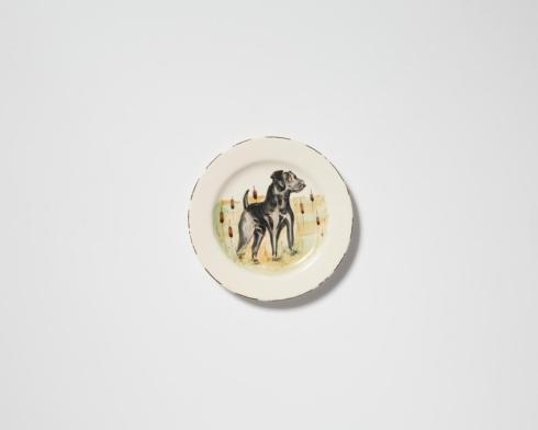 $52.00 Black Hunting Dog Salad Plate