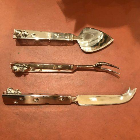 $37.50 Nickel Plated 3pc. Cheese Set