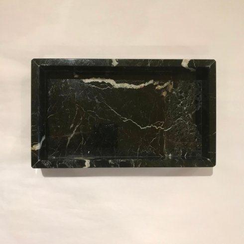 $90.00 Black Marble Vanity Tray/Napkin Holder