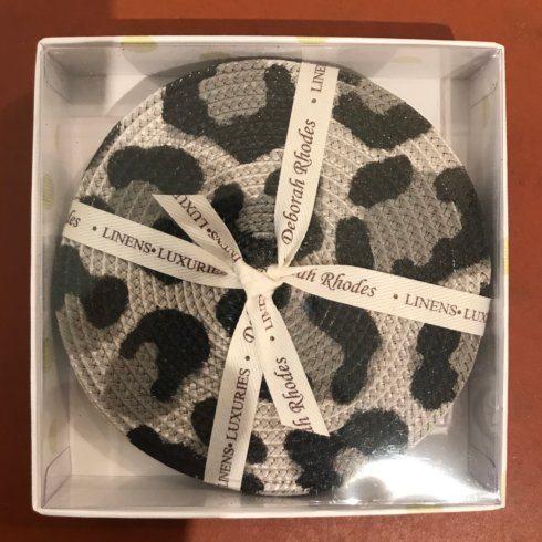 $55.00 Black and Grey Set of 4 Cheetah Coasters