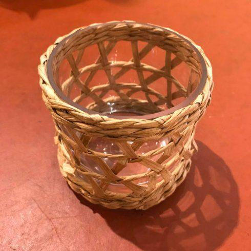 $27.50 Raffia Votive Holder