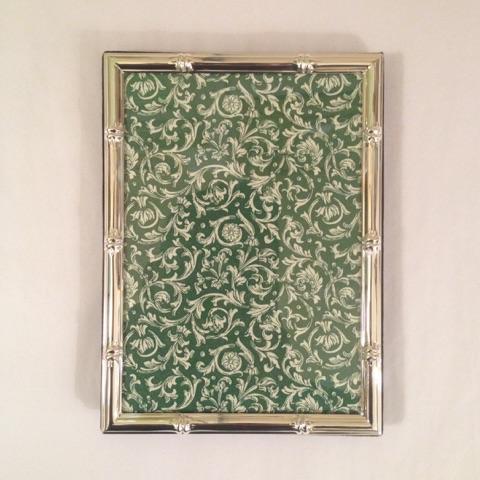 $45.00 5 x 7 Silver Bamboo Frame