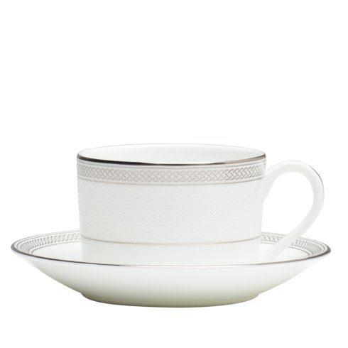 $48.00 Teacup & Saucer Set Platinum