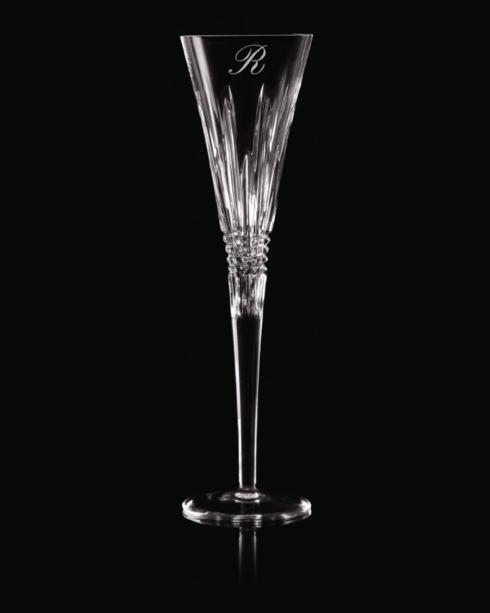 """$160.00 Lismore Diamond Toasting Flute Pair """" D"""" Script"""