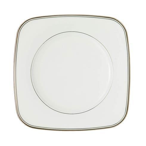 $50.00 Platinum Square Accent Salad Plate