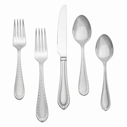 $65.00 Matte Stainless 5-Piece Place Setting
