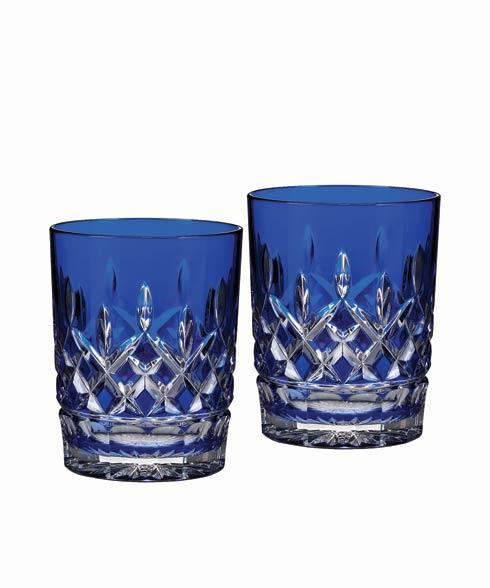 $350.00 Cobalt Double Old Fashioned, Pair