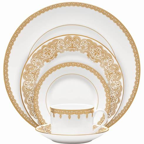 $140.00 Gold 5 Piece Place Setting