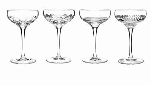 $225.00 Coupes - Clear, Set of 4