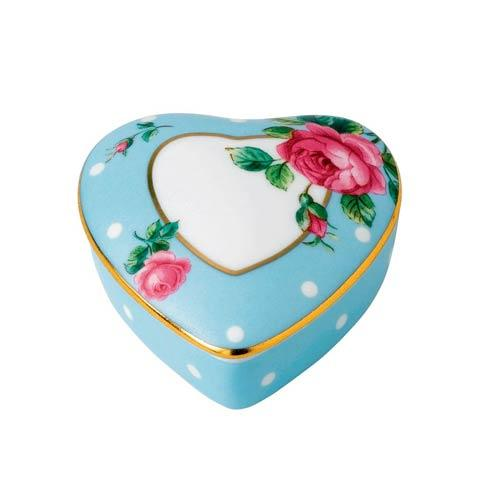 $15.99 Small Heart Box Polka Blue