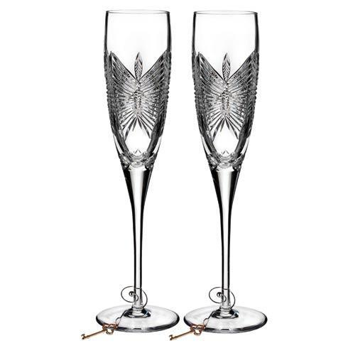 $135.00 Waterford Love Happiness Flute, Pair
