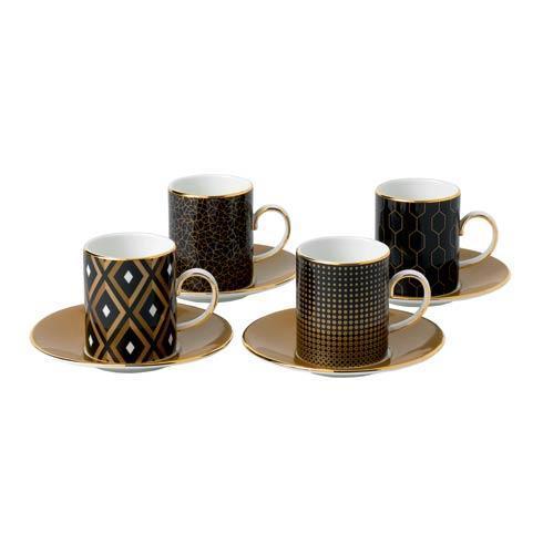 $200.00 Accent Espresso Cup & Saucer Set/4