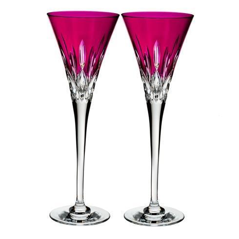 $195.00 Lismore Pops Flute Set/2 Hot Pink