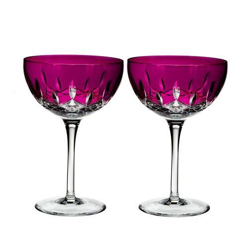 $195.00 Lismore Pops Cocktail Set/2 Hot Pink