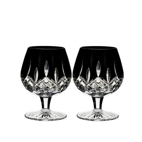 $225.00 Lismore Black Brandy Set/2