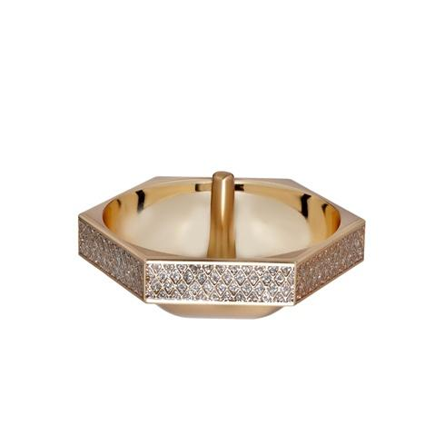 $60.00 Lismore Diamond Ring Holder Gold