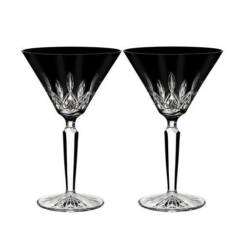$225.00 Lismore Black Martini Set/2