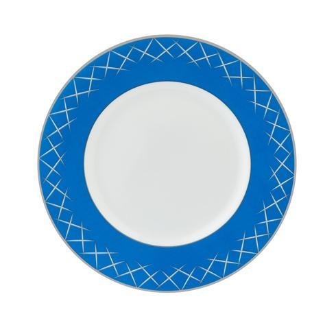 "$50.00 Lismore Pops Accent Salad Plate 9"" Cobalt"