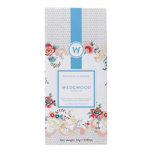 $12.95 White Tea Box/12 Rococo Flowers