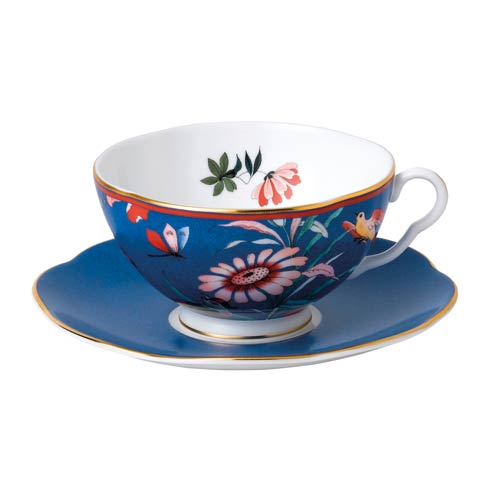 $54.95 Teacup & Saucer Set Blue