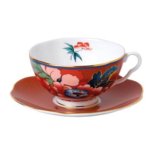 $54.95 Teacup & Saucer Set Red