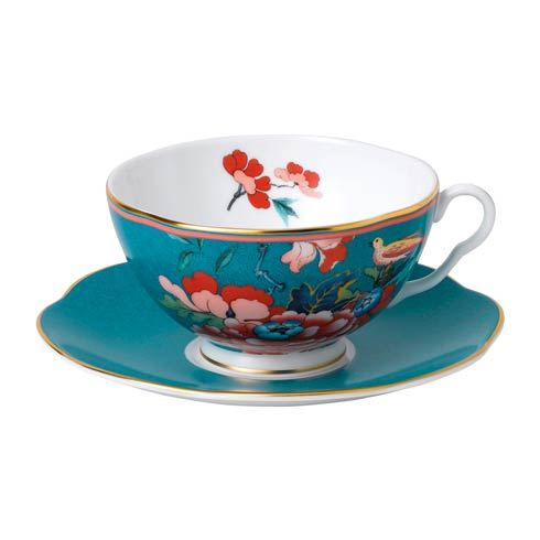 $54.95 Teacup & Saucer Set Green