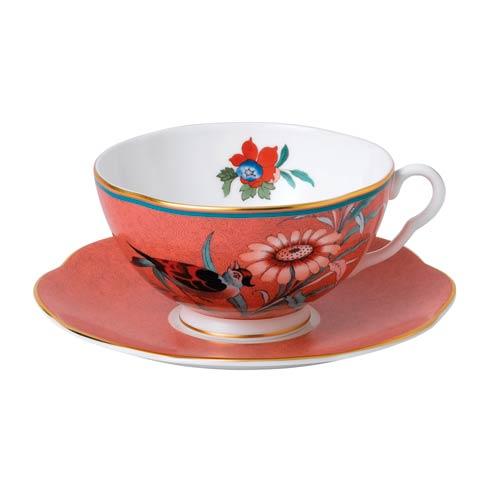 $54.95 Teacup & Saucer Set Coral