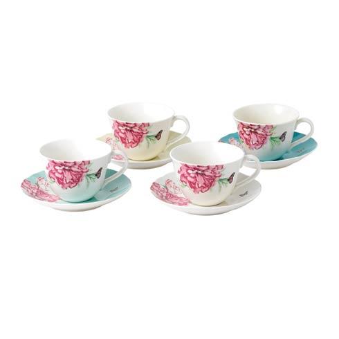 $89.99 Teacup & Saucer Set/4 Mixed Colors