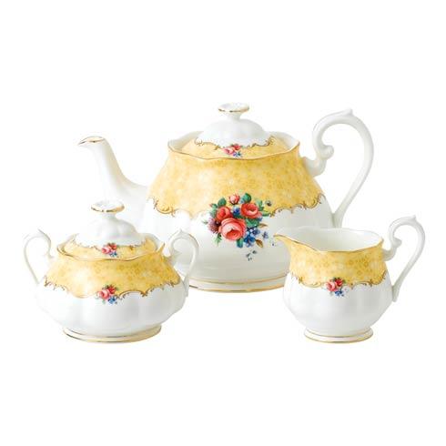 $174.99 1990 3-Piece Set (Teapot, Sugar & Creamer) Bouquet