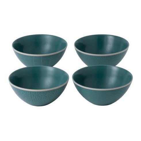 """$31.99 Bowl 6"""" Mixed Blue Set of 4"""