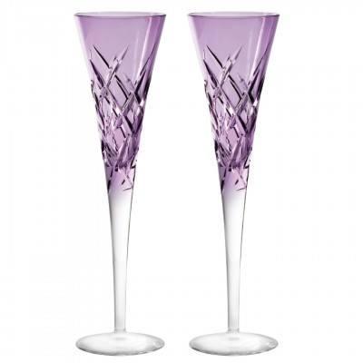 $210.00 Toasting Flute Lavender Pair