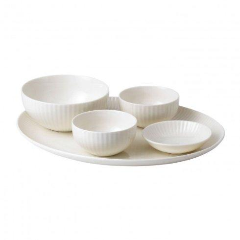 $125.00 Tisbury Chip \u0026 Dip Set  sc 1 st  Live With It by Lora Hobbs & Wedgwood Jasper Conran Casual Dinnerware products