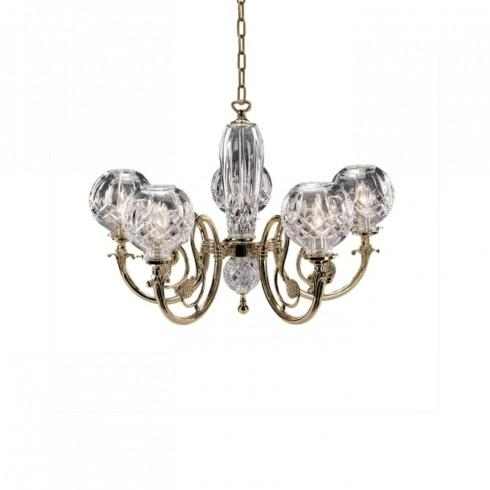 $2,800.00 5-Arm Polished Brass Finish Chandelier